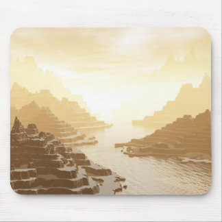 Misted Mountain River Passage Mouse Pad