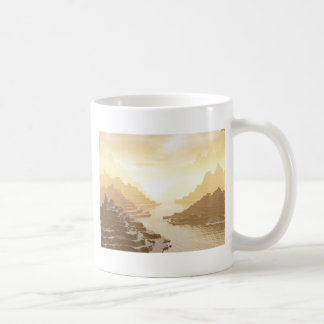 Misted Mountain River Passage Coffee Mugs