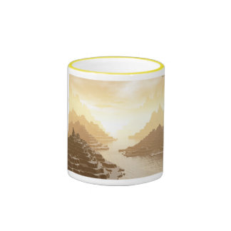 Misted Mountain River Passage Coffee Mug