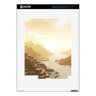 Misted Mountain River Passage Decals For iPad 3
