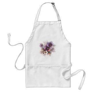 Misted Purple Pansies Adult Apron