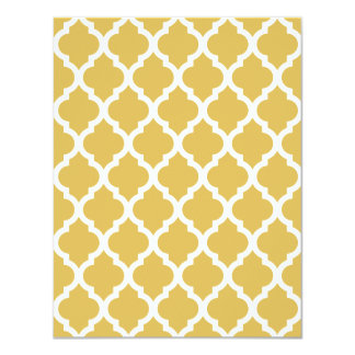 Misted Yellow Moroccan Tile Trellis 4.25x5.5 Paper Invitation Card