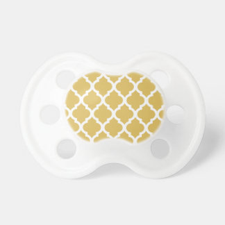 Misted Yellow Moroccan Tile Trellis BooginHead Pacifier