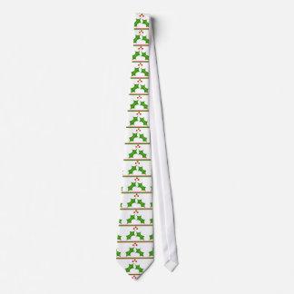 Misteltoe & Red Green Stripes Neck Tie