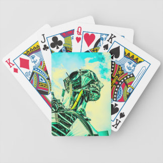 Mister Blue Bicycle Playing Cards