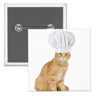 Mister Cat Chef To You Pinback Buttons
