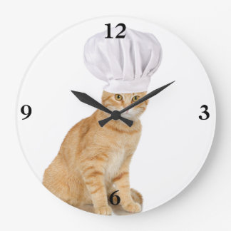Mister Cat Chef To You Wallclocks