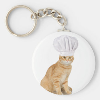 Mister Cat Chef To You Basic Round Button Keychain