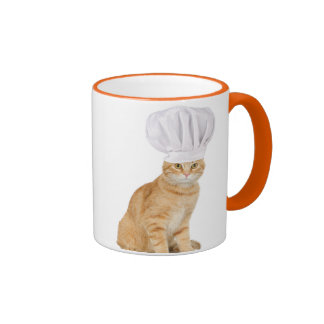 Mister Cat Chef To You Ringer Coffee Mug