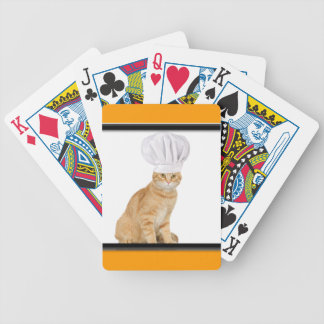 Mister Cat Chef To You Bicycle Playing Cards