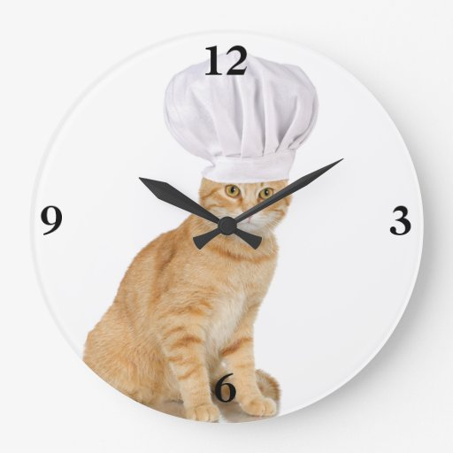 Mister Cat Chef To You Round Clock