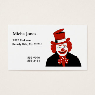 Mister Cool Clown With Dotted Bowtie Business Card