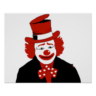 Mister Cool Clown With Dotted Bowtie Posters