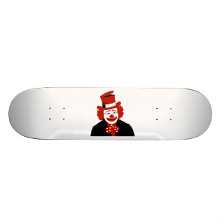 Mister Cool Clown With Dotted Bowtie Skateboard Deck