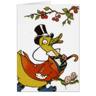 Mister Duck in Formal Clothes Card