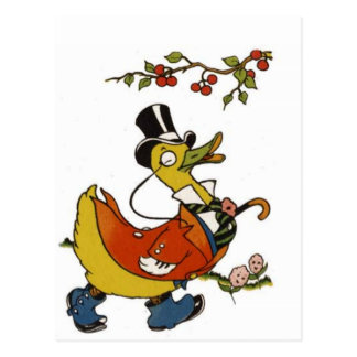 Mister Duck in Formal Clothes Postcard