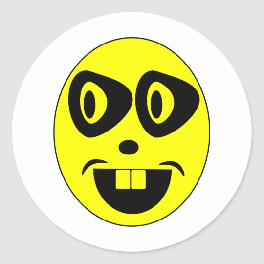 Mister Eg große Augen Classic Round Sticker