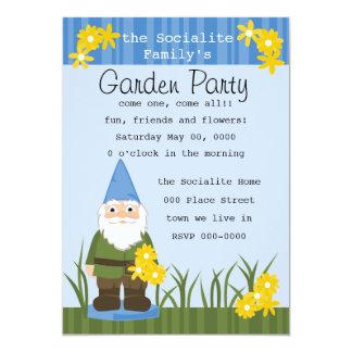 Mister Garden Gnome 5x7 Paper Invitation Card