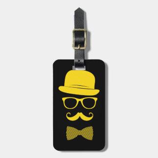 Mister hipster bag tag