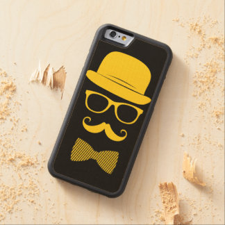 Mister hipster carved® maple iPhone 6 bumper