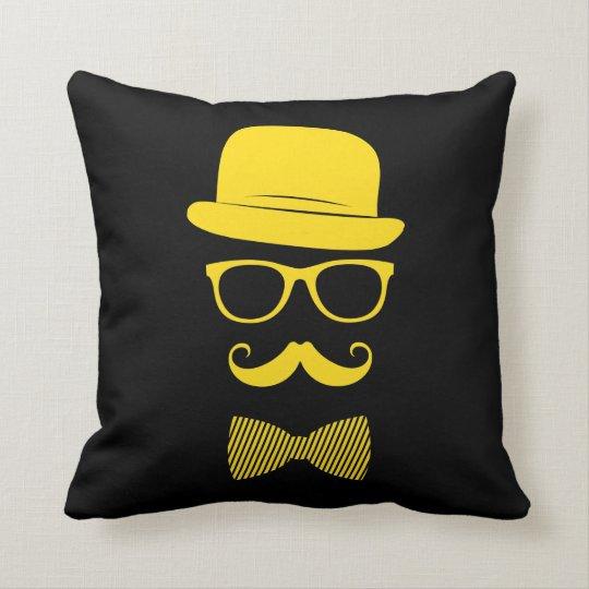 Mister hipster throw pillow