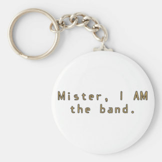 Mister I am Band Basic Round Button Keychain