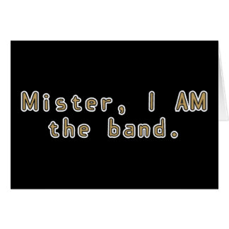 Mister I am Band Card