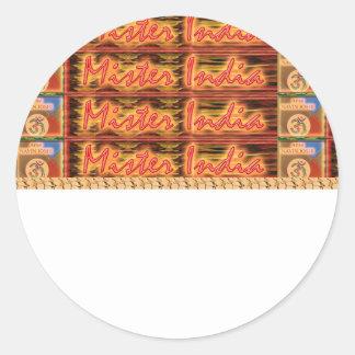 MISTER INDIA - Festivals n Celebrations Round Sticker
