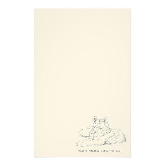 Mister Kitty Cat Stationery