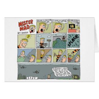 Mister Mad Drowns Himself by Sam Backhouse Card