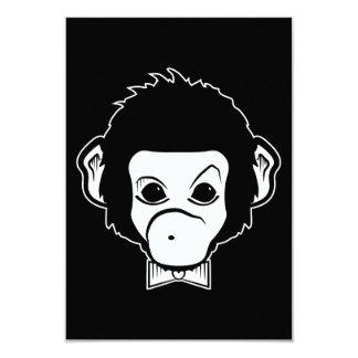 mister monkey 3.5x5 paper invitation card
