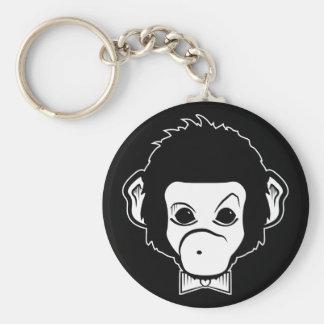 mister monkey basic round button keychain