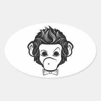 mister monkey oval sticker