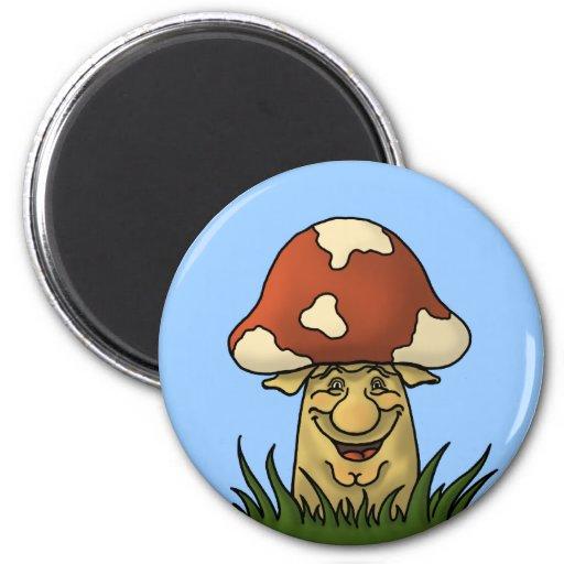 mister mushroom funny magnet