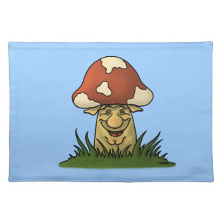 mister mushroom funny placemat cloth placemat