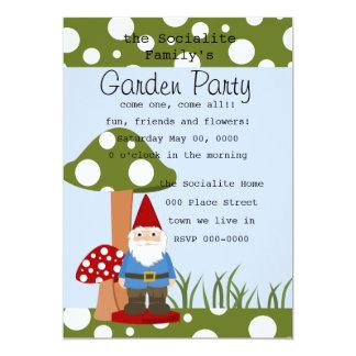 Mister Mushroom Garden Gnome 5x7 Paper Invitation Card