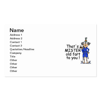 Mister Old Fart Birthday Humor Business Card Template