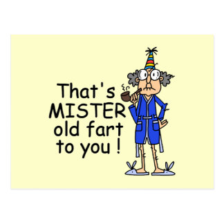 Mister Old Fart Birthday Humor Postcards