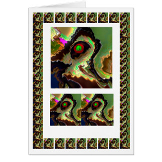 Mister Parrot Comedy Clawn  -  add text img Greeting Card