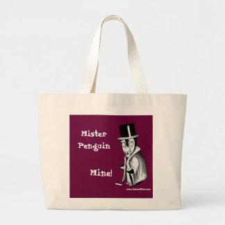 Mister Penguin: Mine! Large Tote Bag