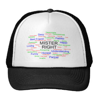Mister Right tag cloud Trucker Hat