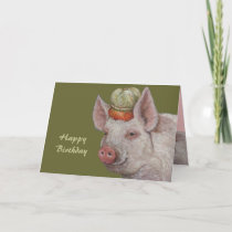 Mister Smythe the pig birthday card