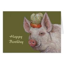 pig birthday cards from farmgifts, Birthday card