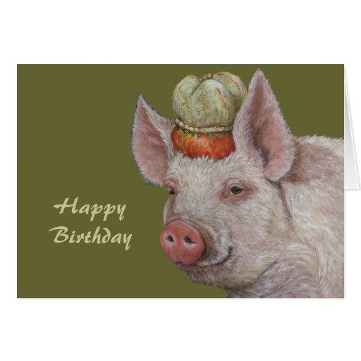 Mister Smythe the pig birthday card