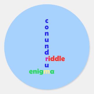 Misterio adivinanza riddle enigma conundrum pegatina