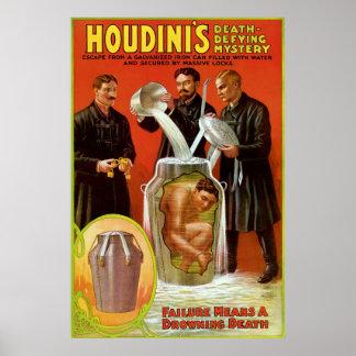 Misterio de desafío de la muerte de Houdini Impresiones