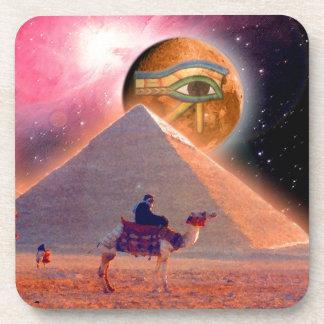 Misterio de las pirámides posavasos de bebidas