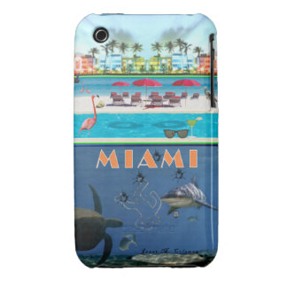 Misterio de Miami para el iPhone 3 (casamata) Case-Mate iPhone 3 Cárcasas