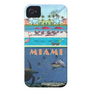 Misterio de Miami para el iPhone 4 (Funda-Magia) Case-Mate iPhone 4 Cobertura