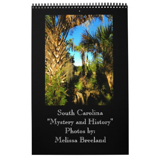 Misterio e historia del ~ de Carolina del Sur Calendarios De Pared
